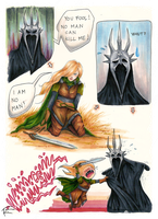 Eowyn and the Witch King by s-scattered
