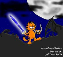 Demon Slayer Garfield by Eddi-
