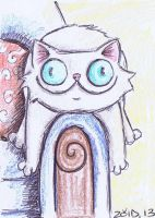ACEO Stupid Persian funny cat by KingZoidLord