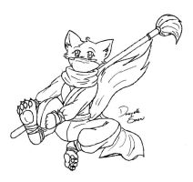 Another furry snow fox ninja by SnowFoxNinja