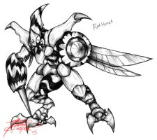 Kaijin Red Hornet by Daimera