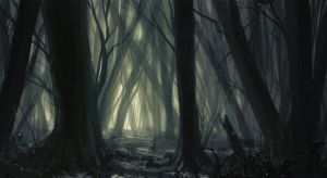 Mystic Forest - Environment Sketch by lukasesch