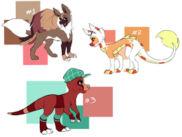 Moar adoptables! by Kashoune