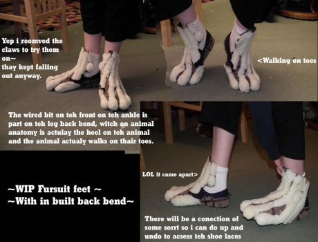 Wip fursuit feet update by ThoronWild