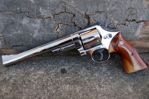 Smith and Wesson Model 29 Nickel Plated by PLutonius
