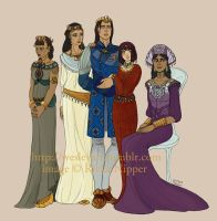 Aduna Royal Family (commission) by RivkaZ