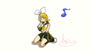 Rin Kagamine :3 by amyrose7