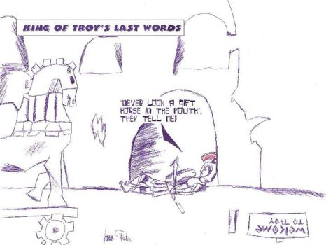 King of troy's last words by greenwinters