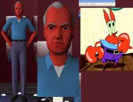 Mr. Krabs in The Sims 2 by iedasb