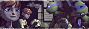 Donatello and April by Drusilla52