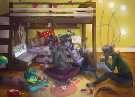 Commission for nekoshit by Furry-CancanLou