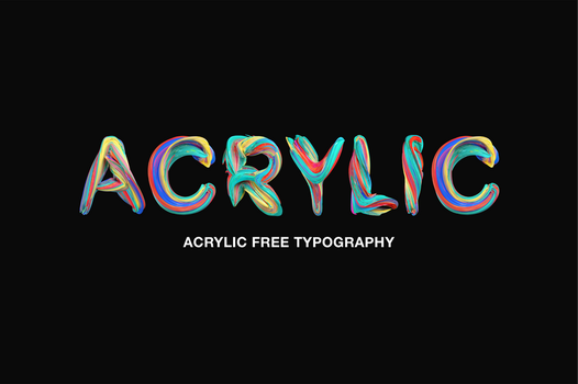 Acrylic Free Typography by Perfect0design