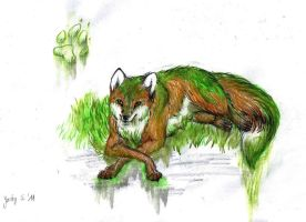 Forest Spirit Fox by S-l-a-n-i-a