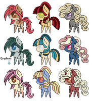 :OPEN: Chibi Pony Adopts by SunnAdopts