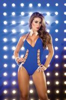 Blue Monokini by PrettyPrincessJane