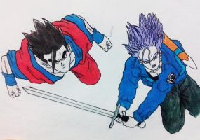 Gohan e Trunks -Dragon Ball Z by HBitwill