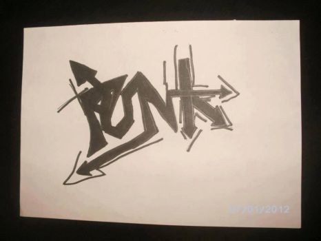 Punk Sign again colored by femshepLiara1993