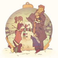 Layton family Christmas by Mugges