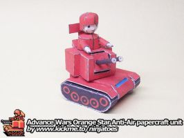 papercraft Advance Wars Orange Star Anti-Air unit by ninjatoespapercraft