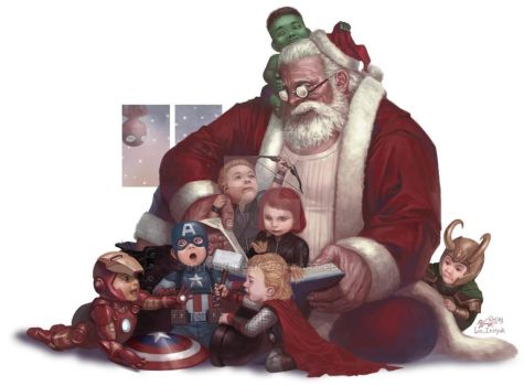 Avengers Christmas (2013) by inhyuklee
