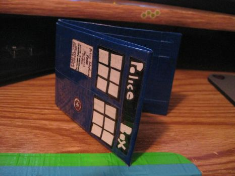 DUCT TAPE TARDIS WALLET by NotFromMars