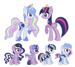 Moonlight Starbow x Twilight Sparkle Breedable by SugarMoonPonyArtist