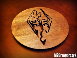 Skyrim Dragon Large Coaster by M2Grzegorczyk