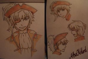 Arthur Kirkland PirateUk by Lilithart13