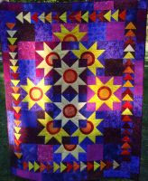 Baby Quilt - suns by StarValkyrie