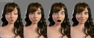 Samantha Morphs Test by Woodys3d