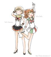 """Sailor Germany+Italy"". fanart by desearu"