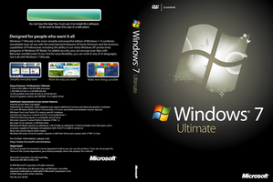 Windows 7 Ultimate DVD Cover by taimurasad
