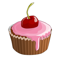 Cherry Cupcake - SVG by billps