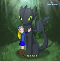 Haley and Toothless by FairyAurora