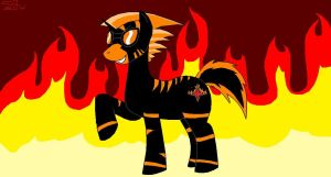 Flash Fire MLP OC by Kyuubichowderfan