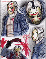 Jason Voorhees doodles -1- by Cageyshick05