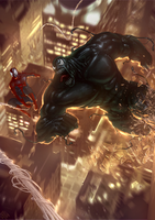 Symbiote bonds Hulk by Memed