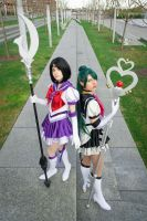 Sailor Pluto and Sailor Saturn by AmmieChan