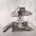 Fashion: Hat and Tea by whyaduck