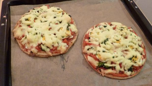Pancake Veggie Pizza with Extra Cheese !! by Vandarque