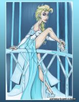 Queen Elsa by LordSantiago