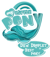 Fanart - MLP. My Little Pony Logo - Dew Droplet by jamescorck
