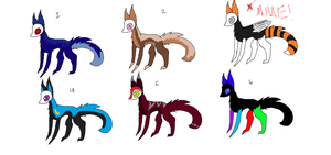 OrangeXSlend Kit/Pups  SlendFox adopts by Prototvpe