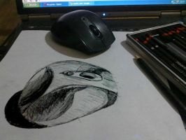 Mouse - Anamorphic Drawing by rod750