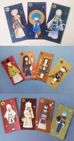 Touken Ranbu Origami Bookmarks by Keyade