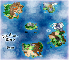 Grand World: Geographic map by pendragon55