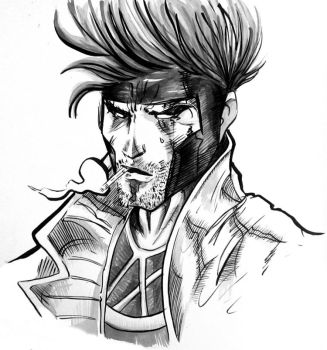 Gambit - Ink washed by kitanai-neko