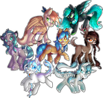 MLP: Commission: Jaegerpony Crew (x7) by Mychelle