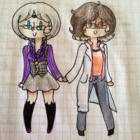 Female Cecil and Carlos by Winged-CatGirl-Kin