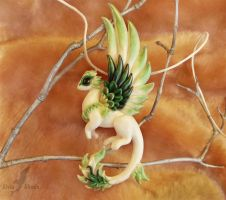 Spring dragon necklace by AlviaAlcedo